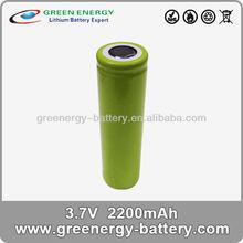 li ion 18650 battery battery li-ion 18650 dimension de la batterie 2200mah