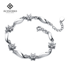 Cheap factory direct 925 sterling silver bracelet sterling silver gifts for her