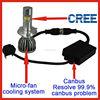 Latest product car led light H1/ H3/ H4/ H7/ H11/H13/H16/H4-3/ H4 Hi/Lo Cree led chip 3000LM auto led headlight