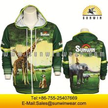 2014 customized colorful club polyester fleecing hoody wear