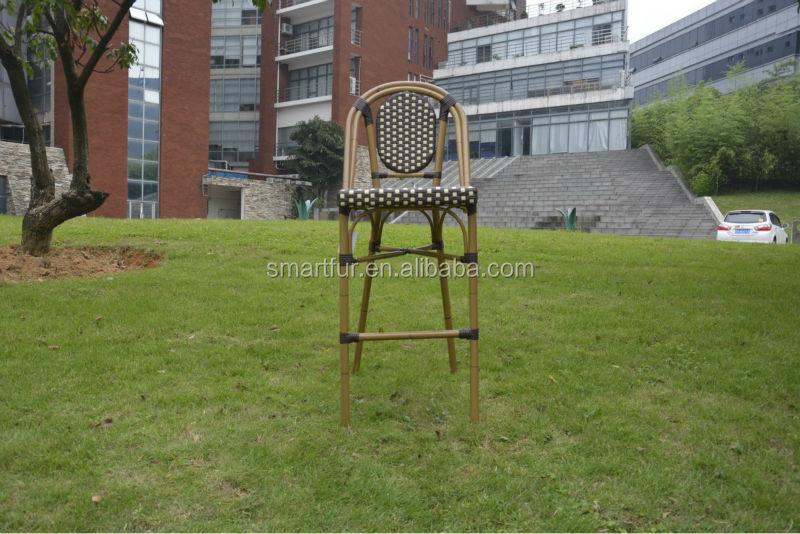 Pas cher en osier rotin tabouret de bar chaise de jardin for Statut de jardin pas cher