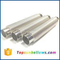 321 stainless steel flexible piping metal expansion compenastor bellows joint