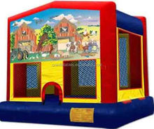 inflatable bouncer/inflatable jumping bouncer/ animal farm bouncy castle