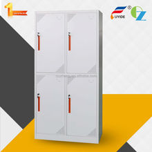 Modern design best selling cheap KD 4 door small metal cupboard clothes locker used for school, gym