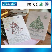 Wholesale price innovative foldable paper programmable musical christmas greeting card