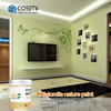 Odorless and sound absorbing wall paint color make of diatomaceous mud