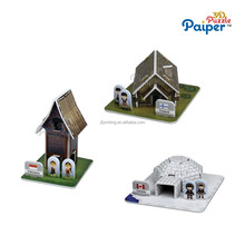 Wholesale 3d house puzzle game adults toy