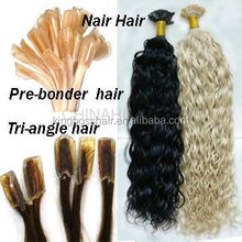 long last pre bonded glue hair extensions vtip itip nail tip hair