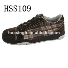 leisure style rubber sole 200 J steel toe comfortable canvas safety shoes