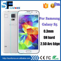 0.3mm 9H tempered glass screen protectors for Samsung galaxy S5 I9600