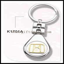Fashionable colorful carbon fiber metal keychain
