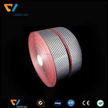 China supplier high visible 3m 5510 reflective warning stripy tape for cloth and shoes logo