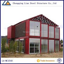 20 ft Red Luxury Prefabricated Modular Container Office