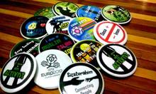Custom A pin-back button or button Badge, pin button, button badge or simply pin-back or badg   Promosional Badge   No Minimum