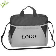 Briefcase-Messenger Bags an adjustable shoulder strap with web carrying handles mesh side pocket and side pen slots