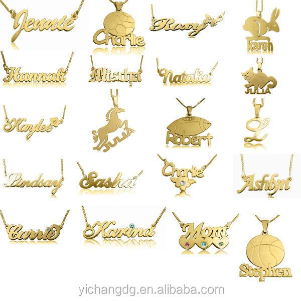 Personalize design 14k gold swirl print name pendant buy name custom pendant aloadofball Images