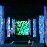 P37.5 led video curtain play full sexy movies/led mesh curtain sign/led open sign