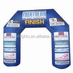 moveable outdoor event inflatable start and finish line arch, cheap inflatable sports arch