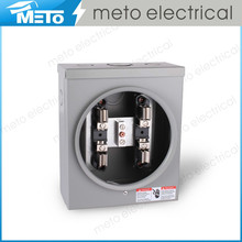100A 4 Jaw Ring Rectangle Type Single Phase 2 or 3 wires Distribution Box / Electrical Panel Box Meter Base
