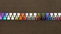 Rainbow Colorful Zincing Plating teeth scoops Zipper