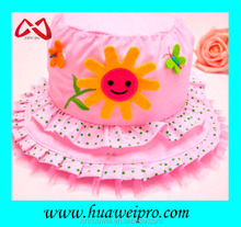 Bucket type lace cute floral hat for baby and children