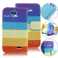 small order colorful new design flip case cover pouch for lg l90,for lg l90 case cover