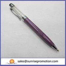 Crystal Purple Ball Metal Pen
