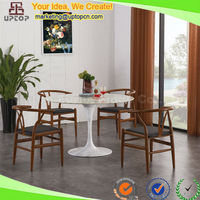 (SP-CT644) Tulip style marble stone / wood top walmart dining room table