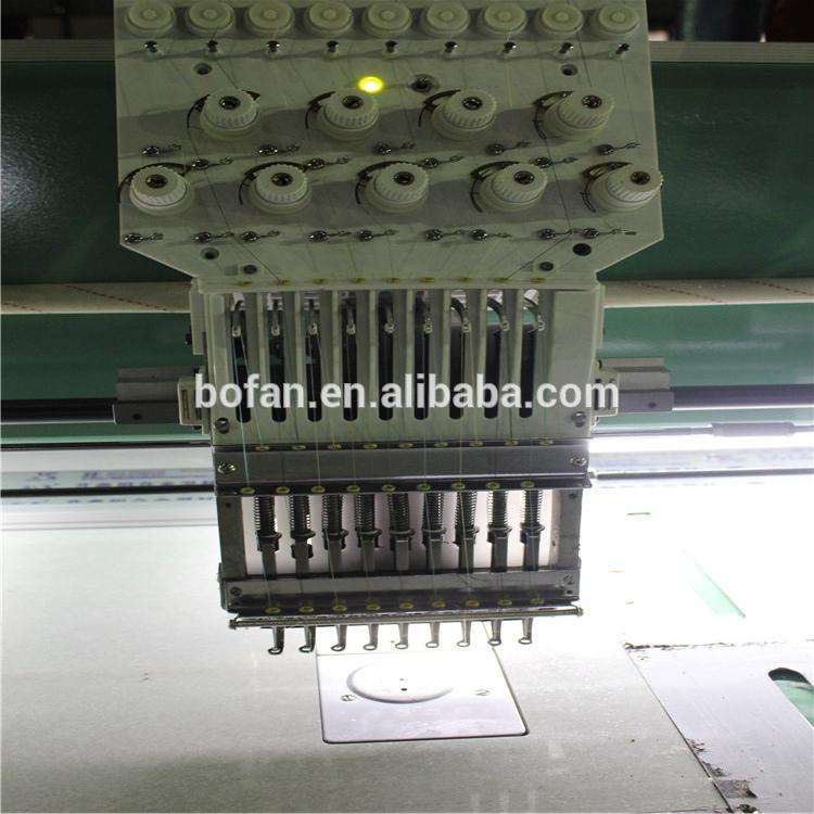 Barato máquina de bordar computadorizada 2 cabeças fazer t-shirt sapatos rendas