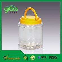 china precio de fábrica fácil llevar la manija tapa desechables de plástico envase de alimento