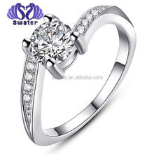 Silver Ring Male White Gold Wedding Ring