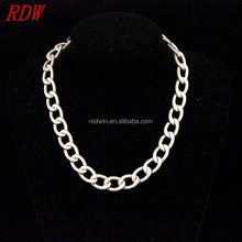 RDW Jewelry Fresh Model Aluminum Jewelry Necklace Plain Chain Trendy But Cheap Aluminum Statement Necklace