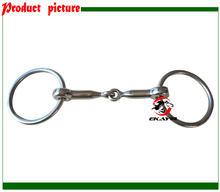 SS ring snaffle bit,solid jointed mouth, horse racing product.(BT0512)