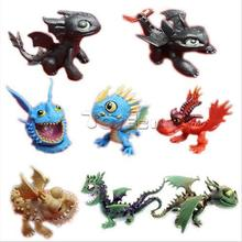 HOT Cartoon Movie How to Train Your Dragon Set of 8pcs Mini Action Figures PVC Doll Collectible Toys for Kids Boys