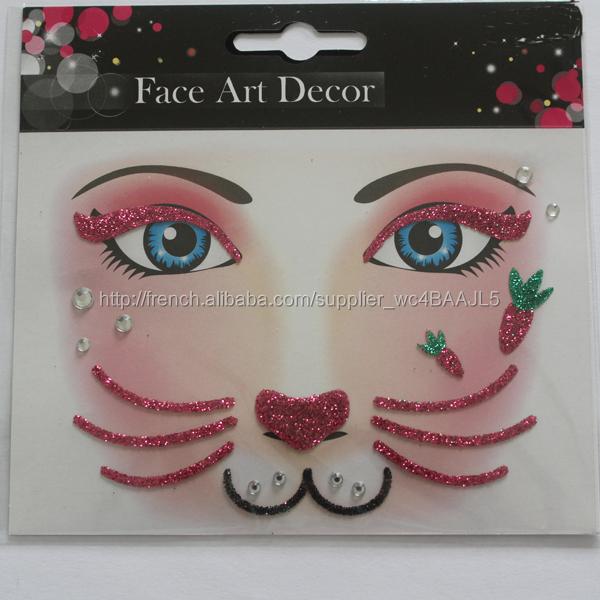plus tardenfant le maquillage faciale art autocollant