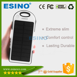Portable solar panel power bank, waterproof solar mobile phone power bank