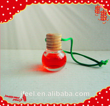 2014 Hot Sale Auto Little Glass Bottle 10ml Hanging Car Air Freshener,Aroma Liquid Hanging Car Perfume Car Deodorizer