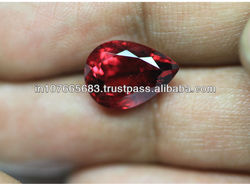 5.9 carats - Fine Quality Zambia Red Rubellite Tourmaline faceted Pear Gemstone