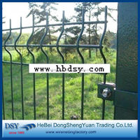 used welded wire mesh fence design for sale /boundary steel fencing (28 direct manufacture)
