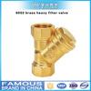 6002 brass heavy Y shape filter valve