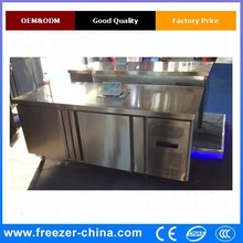 Display Cooler Type and CE Certification refrigerated commercial table top counter top stainless steel salad bar buffet