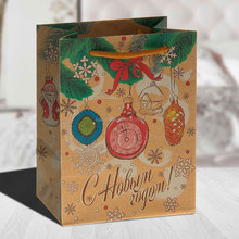 "Popular custom kraft paper christmas gift bag ""Christmas tree"" gift bags wholesale"