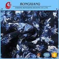 China Manufacturer Latest design Fashion Woven flower design printed chiffon fabric