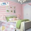 Envío gratis impuesto a rusia 4 rolls / lot moderno papel pintado a rayas chica kids niños wallpaper habitación papel de parede no tejido