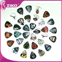 nice guitar picks with colorful logo support oem