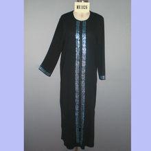 Beautiful Diamond-ironing Decoration Jubah Elegant Islamic Women Abaya MR-1026