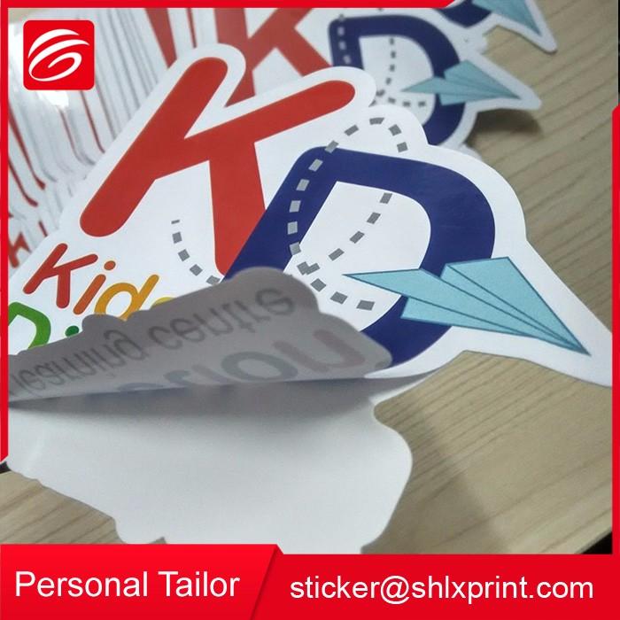Personalizado À Prova D' Água Auto Adesivo Die Cut Vinyl PVC Impressão Do Logotipo Da Etiqueta