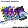 New Design Phone Bag Impermeable House for Galaxy Note 4, Strengthen Waterproof Casing for Samsung Galaxy Note 4