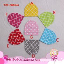 Great high quality quatrefoil pattern cute baby kids hat infant hat cap