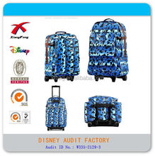 XF manufacturers foldable polyester trolley luggage travel bag for girl